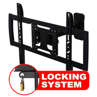 A433BBLK Professional Single Arm Cantilever Bracket With Locking Feature