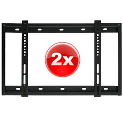 2xSLIMLINE1BLK 2 x Super slim line flat bracket - small