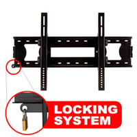 A416CBLK Slim line tilting bracket with locking feature